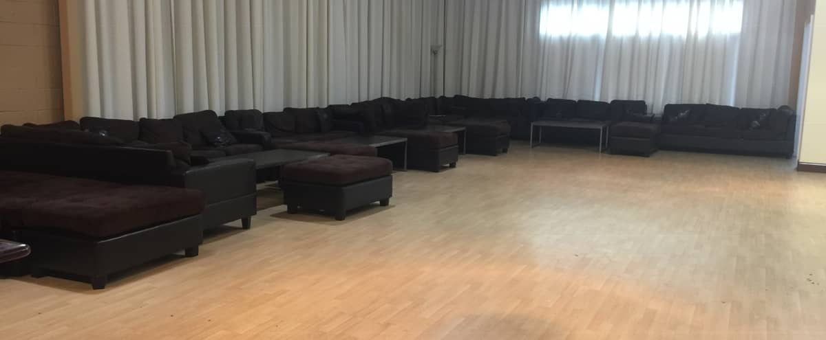 Contemporary Dance Studio with High Ceilings, LED lighting, drapes, stages, and DJ Booth ! in Atlanta Hero Image in Buckhead, Atlanta, GA