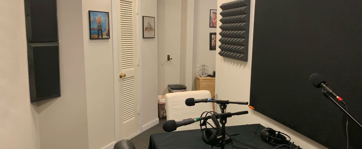 Equipped Podcast Studio w/ Mac Monitor in Creative Workspace in Minneapolis Hero Image in Whittier, Minneapolis, MN