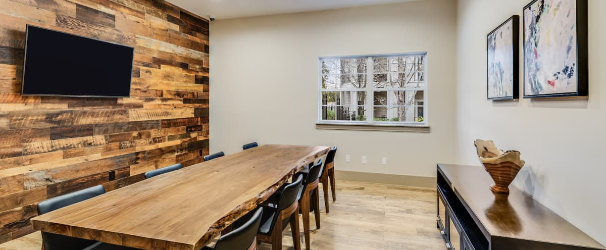 Warm and Inviting Conference Room with Wifi, Smart TV, and Seating for 8 in Lansdowne Hero Image in undefined, Lansdowne, VA