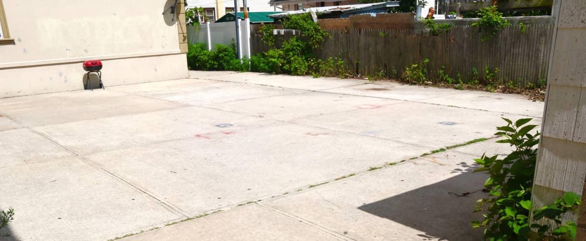 Large concrete urban backyard space in Far rockaway Hero Image in Far Rockaway, Far rockaway, NY
