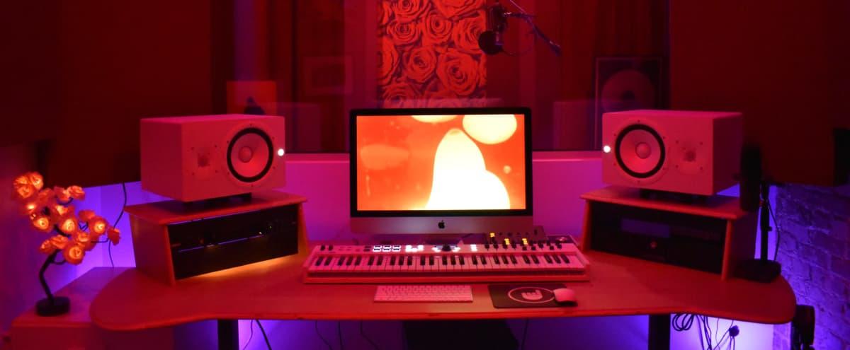 LA Recording Studio/Music Production Room with Elegant Rose Theme in Los Angeles Hero Image in Central LA, Los Angeles, CA
