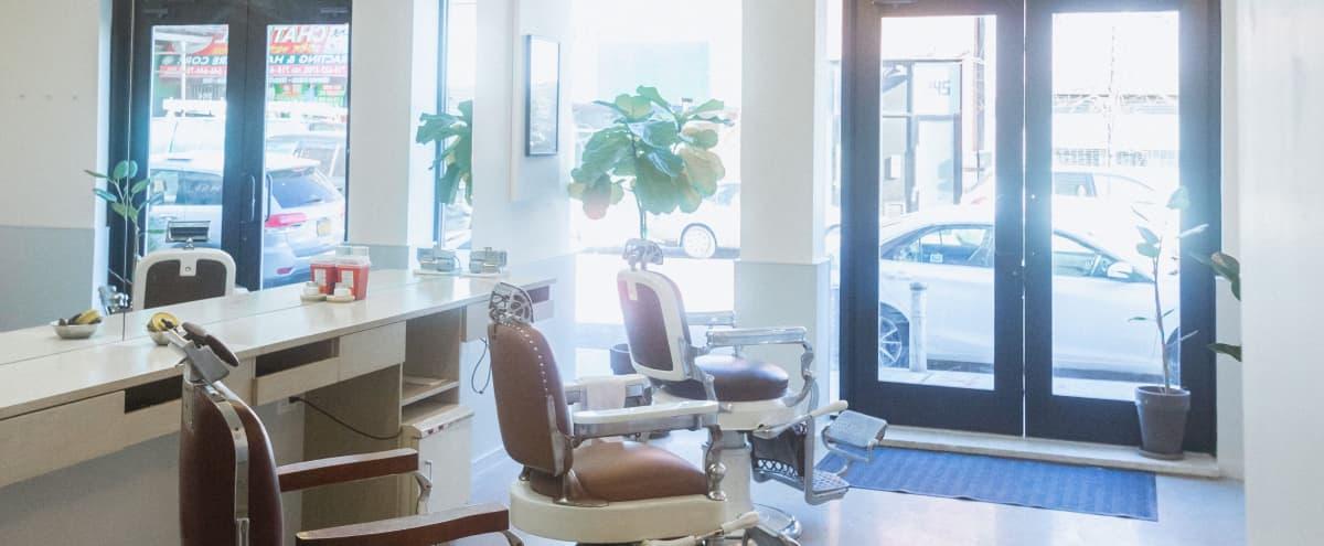 Beautiful Industrial Barbershop Gallery inspired Space in Brooklyn Hero Image in Bedford-Stuyvesant, Brooklyn, NY