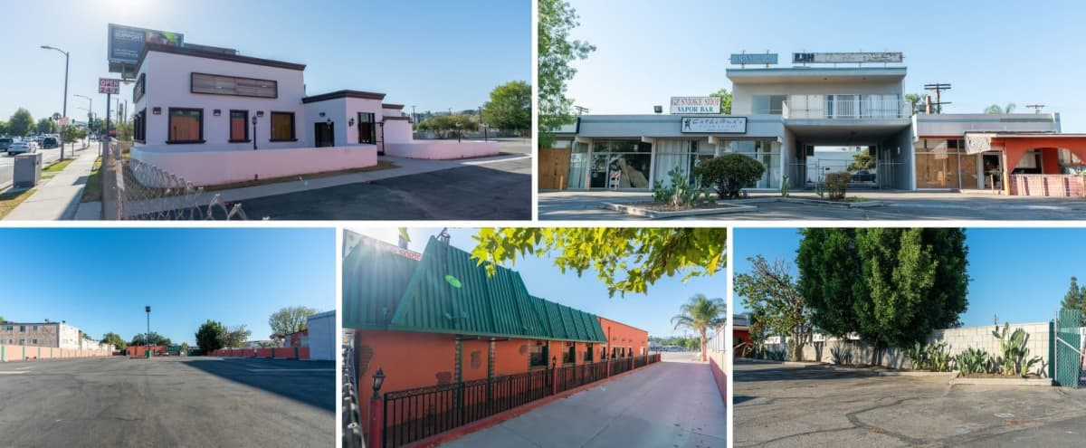 NEW HUGE FILMING LOCATION - HUGE Gated Parking Lot with Brick Buildings in Los Angeles Hero Image in Canoga Park, Los Angeles, CA
