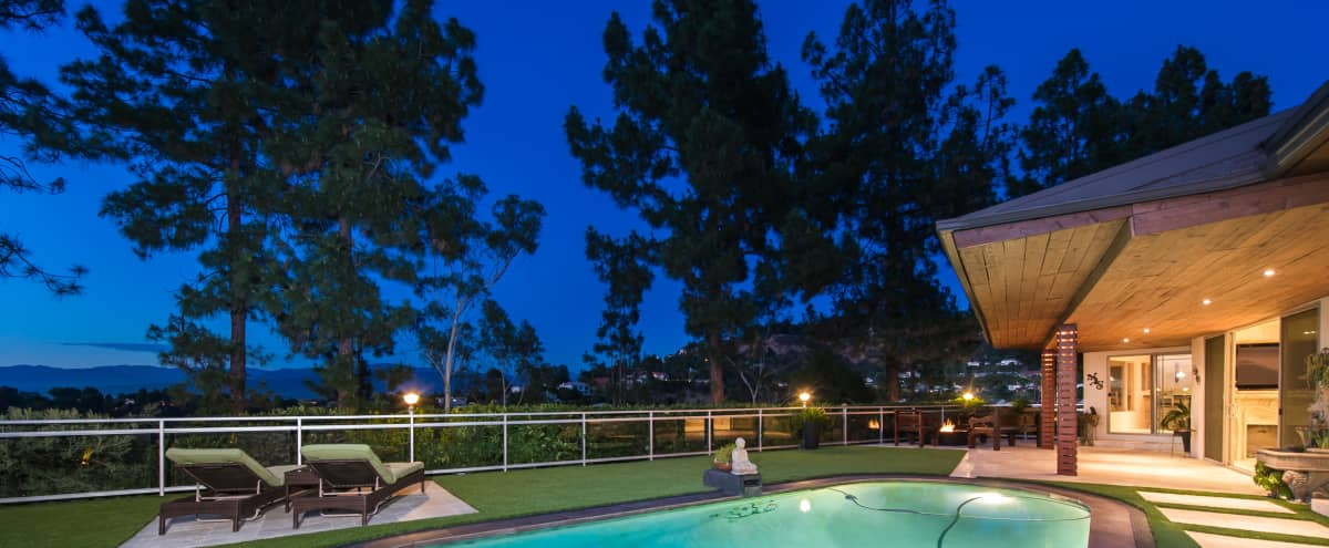 Elegance in Hollywood Hills with Panoramic View in Studio City Hero Image in Hollywood Hills, Studio City, CA