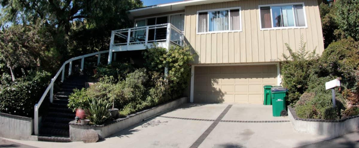 Laguna Beach house with view of trees and ocean in Laguna Beach Hero Image in undefined, Laguna Beach, CA