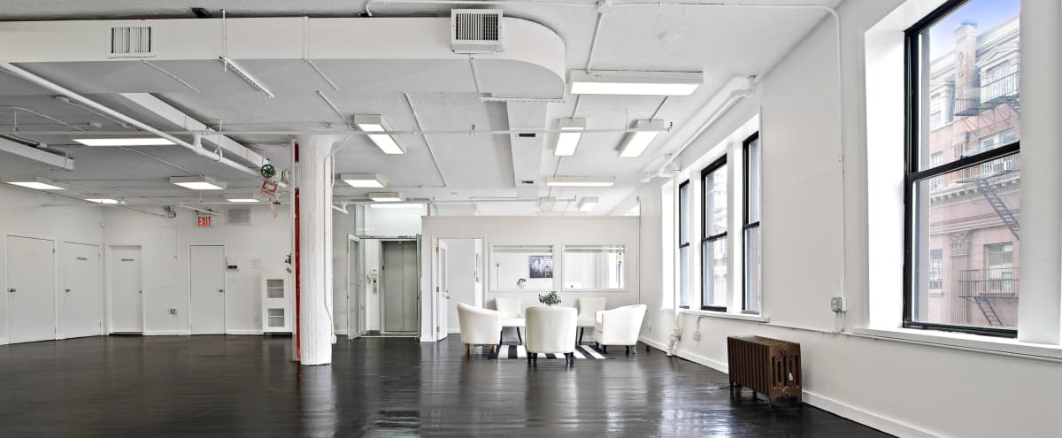 Downtown 2500sf Open Sunny White Loft in New York Hero Image in Little Italy, New York, NY