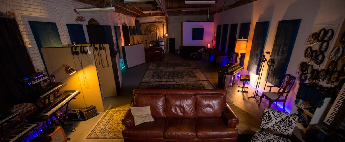 Spacious Warm DTLA Industrial Recording Studio in Los Angeles Hero Image in Central LA, Los Angeles, CA