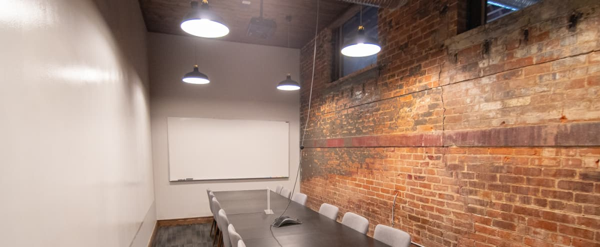 Industrial Conference Room for 10 People - Detroit in Detroit Hero Image in McDougall - Hunt, Detroit, MI