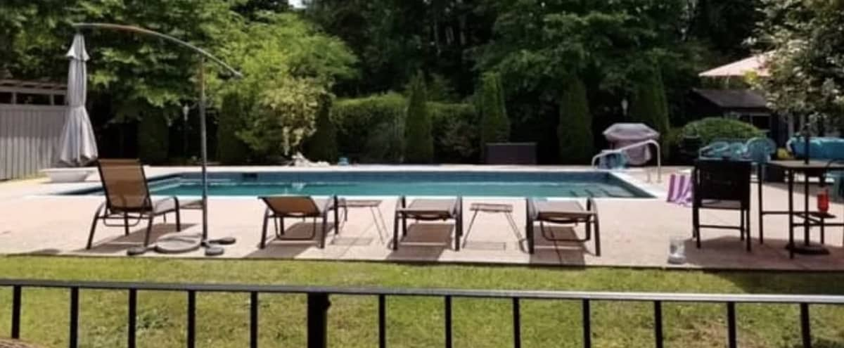 Modern Ranch with amazing mature landscaping and oversized saltwater pebble tec heated pool. in Tucker Hero Image in undefined, Tucker, GA
