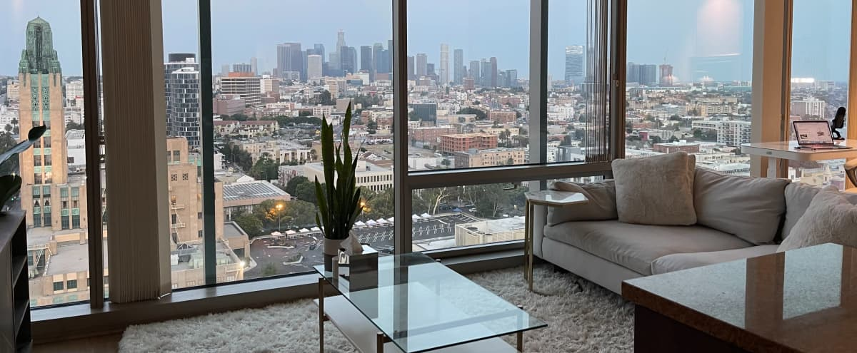 Bright Koreatown Apartment with Downtown Skyline View in Los Angeles Hero Image in Central LA, Los Angeles, CA