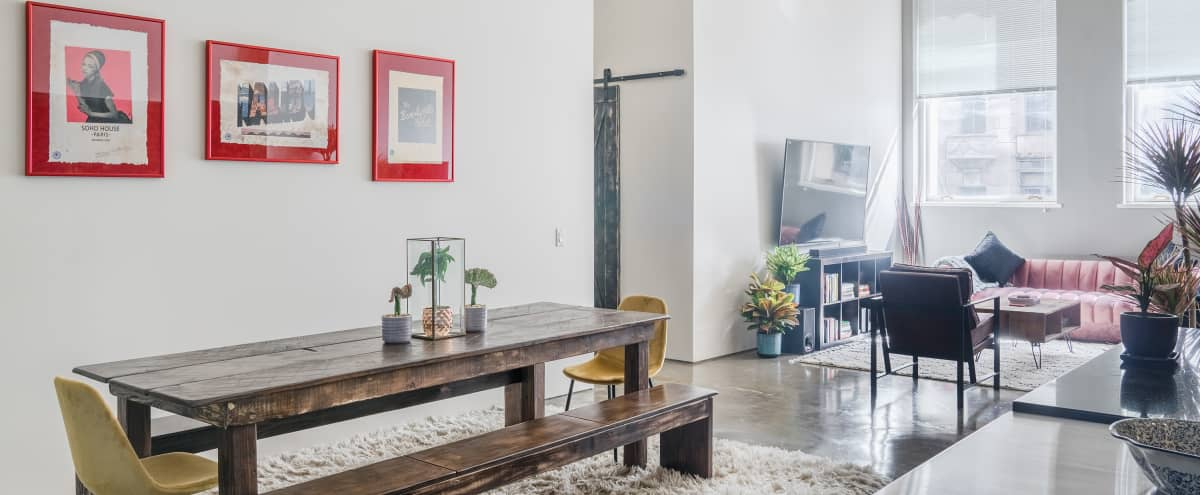 **Stunning and Spacious Bi-Level DTLA Loft with Private Outdoor Patio** in Los Angeles Hero Image in Central LA, Los Angeles, CA