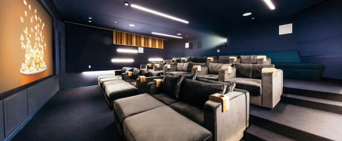 Private Hollywood Theater/ Screening Room in Los Angeles Hero Image in Hollywood, Los Angeles, CA