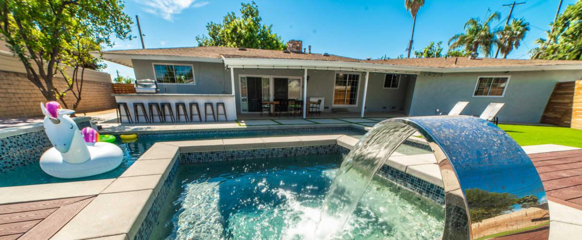 Backyard Paradise Resort Poolside Home in Northridge Hero Image in Winnetka, Northridge, CA