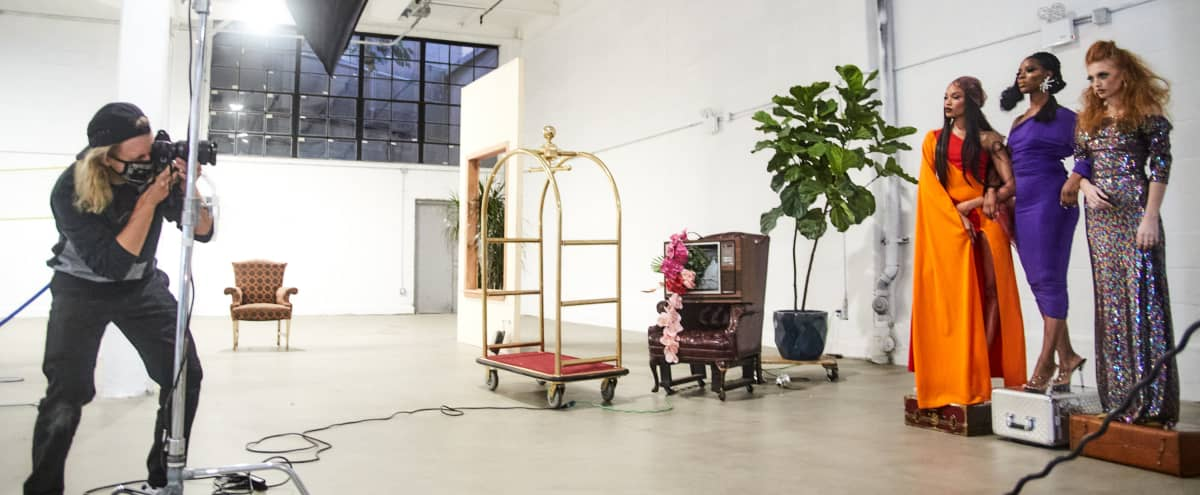 Creative Production Space with Furniture Props & Natural Light in Brooklyn Hero Image in East Williamsburg, Brooklyn, NY
