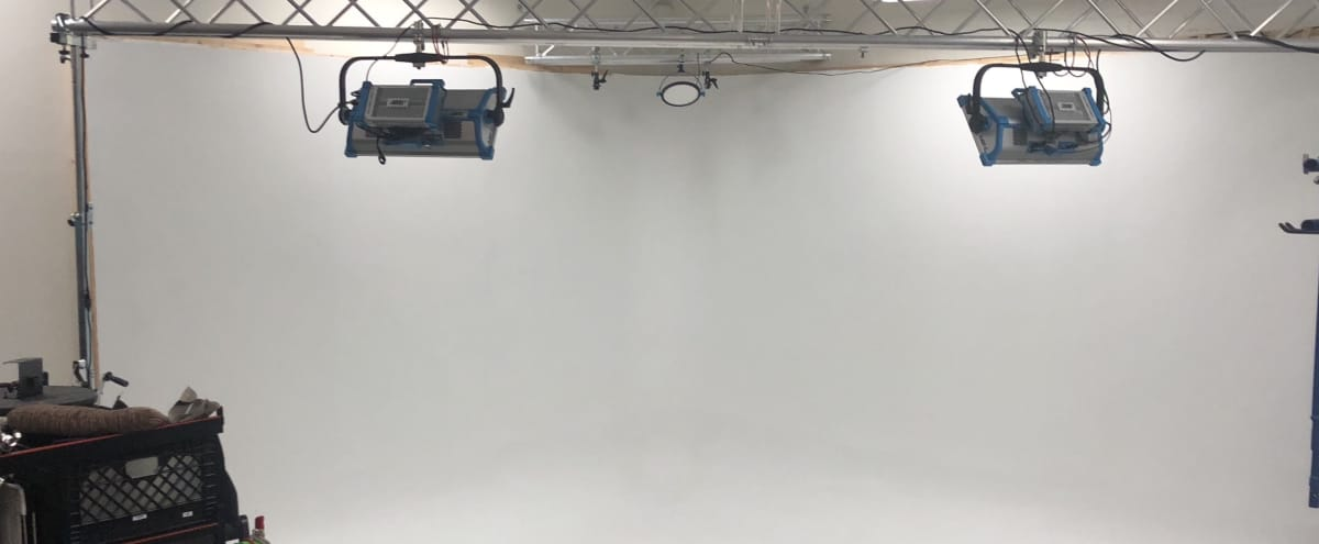 Cyclorama with Light/Grip/Dolly Package + Office Cubicles for Film/Photography in N HOLLYWOOD Hero Image in North Hollywood, N HOLLYWOOD, CA