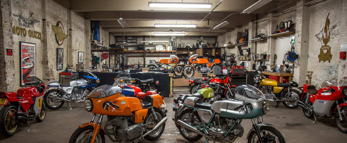 3400Sq foot motorcycle shop & event space in Brooklyn Hero Image in Columbia Street Waterfront District, Brooklyn, NY