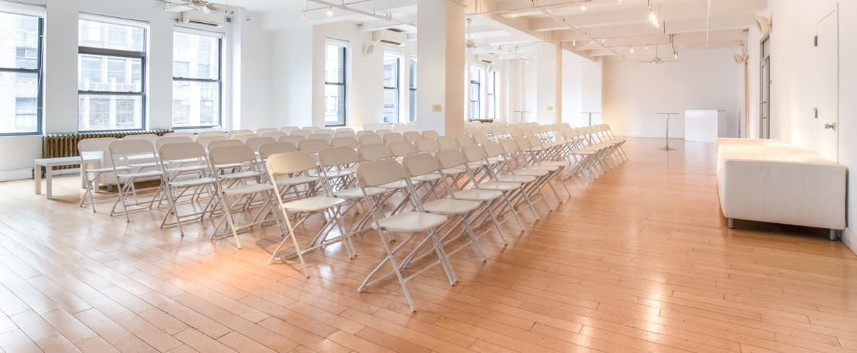 Light Filled White-On-White Loft in New York Hero Image in Midtown, New York, NY