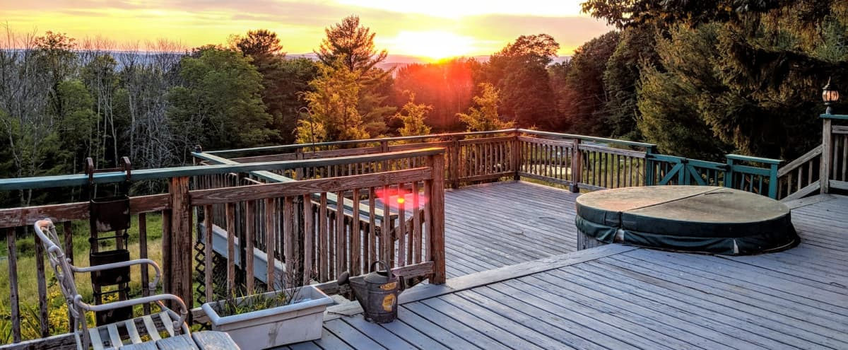 Beautiful Mountain Retreat with South & West-facing sun + Hot Tub in Ellenville Hero Image in undefined, Ellenville, NY