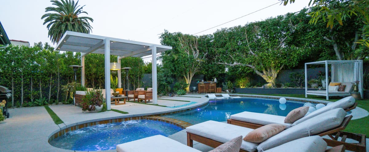West LA Urban Oasis - Pool/Jacuzzi, Bar, Fire-pit, Daybed & more! in los angeles Hero Image in West Los Angeles, los angeles, CA