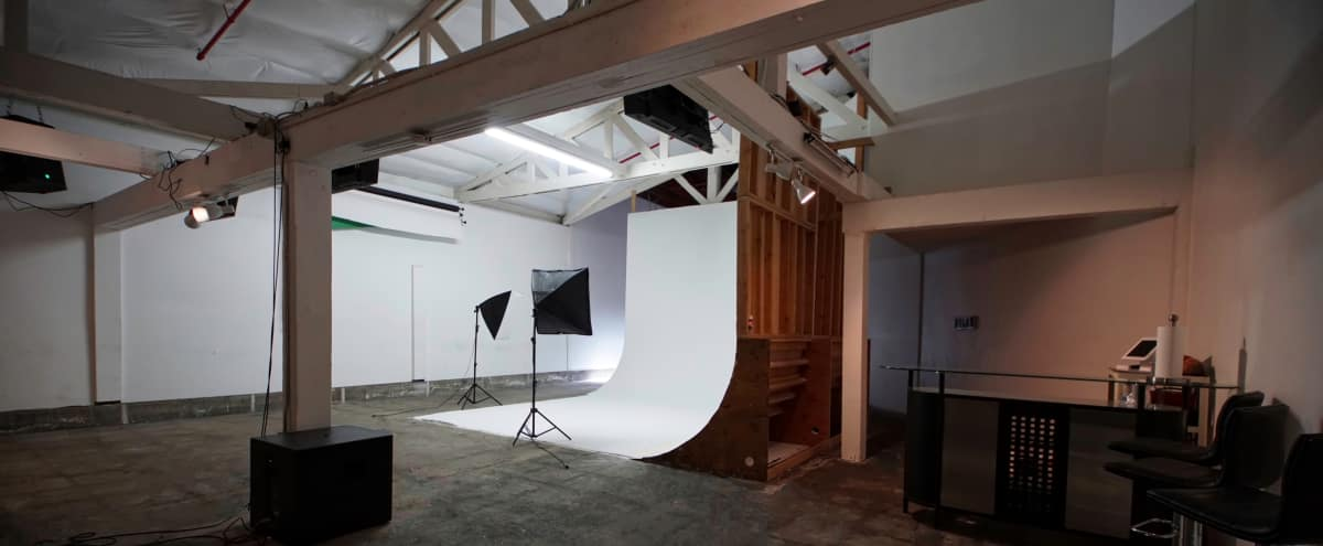 Urban Studio Warehouse Setting w/Roomy White Cyclorama Wall in La Mesa Hero Image in undefined, La Mesa, CA