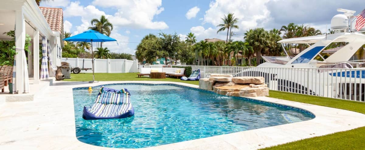 Gorgeous Private Waterfront Event Home With Pool & Patio in Boca Raton Hero Image in undefined, Boca Raton, FL