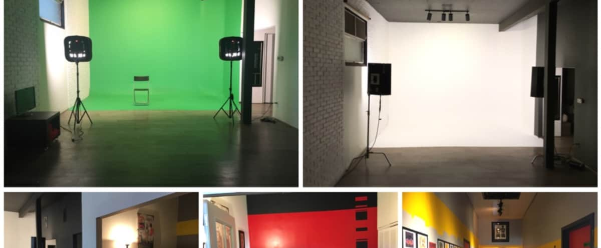 DTLA green screen studio, white & black cyc in Los Angeles Hero Image in Downtown, Los Angeles, CA