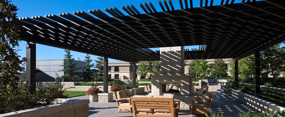 Bellevue Outoor Terrace with Club Breakout Room in Bellevue Hero Image in Northwest Bellevue, Bellevue, WA