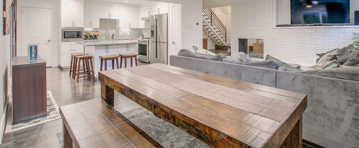 Modern Dallas Meeting Retreat Home - Wyatt Street Oasis in Dallas Hero Image in Lochwood, Dallas, TX
