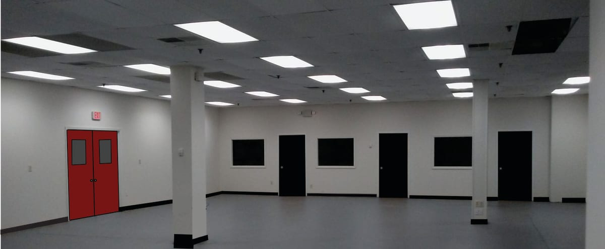 24 hour access, modern, temperature controlled rehearsal/production studio space located just minutes north of Atlanta in a friendly, upscale suburban setting in MARIETTA Hero Image in undefined, MARIETTA, GA