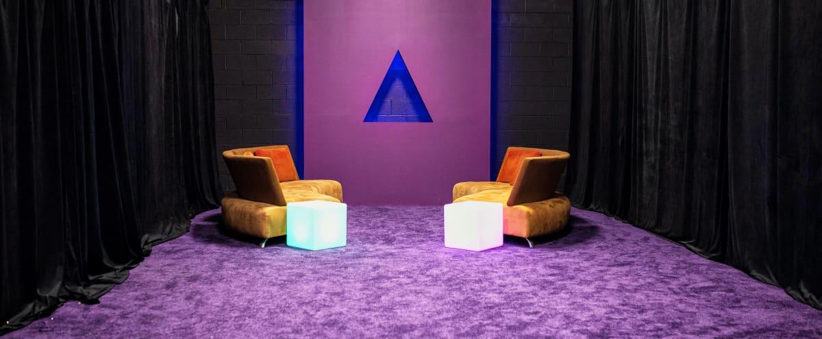 Purple 3-D Neon Fog Pyramid with Props in Atlanta Hero Image in undefined, Atlanta, GA