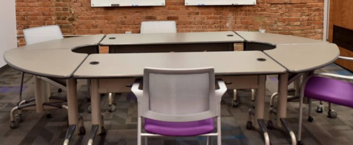 16 Person Industrial Style Meeting Space in Ypsilanti Hero Image in undefined, Ypsilanti, MI