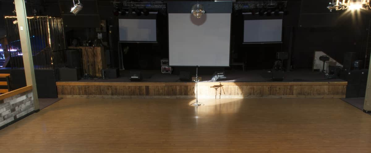 Huge Space with Bar, Stage, Projection Screen & Advanced AV in Fremont Hero Image in Baylands, Fremont, CA