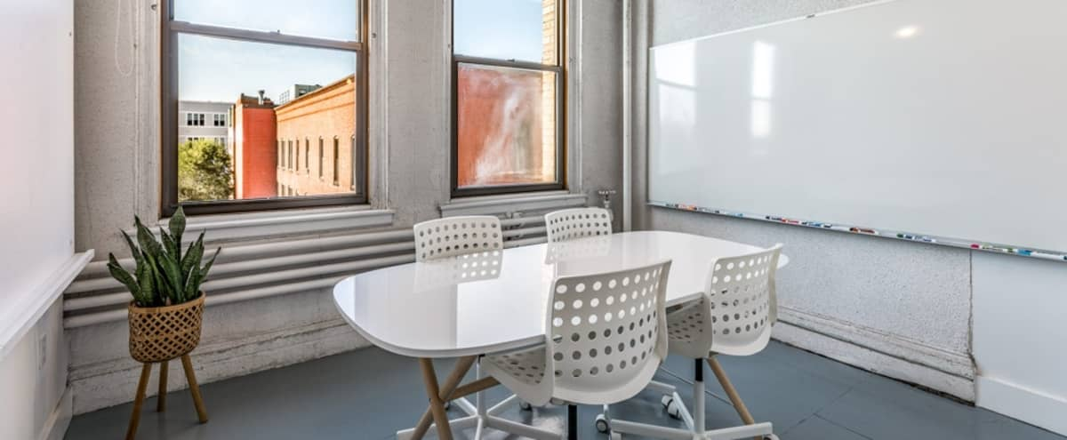 Sleek Meeting Room with Great Natural Light in Boston Hero Image in South Boston, Boston, MA