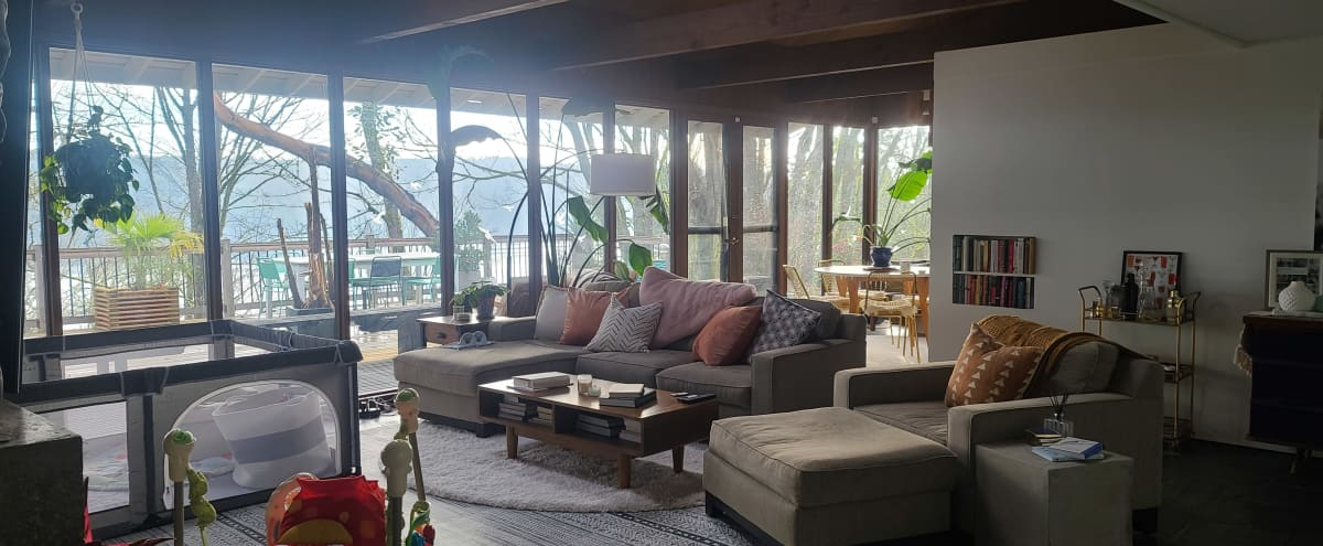 Mid Century Home With Private Lake Views in Seattle Hero Image in Lake City, Seattle, WA