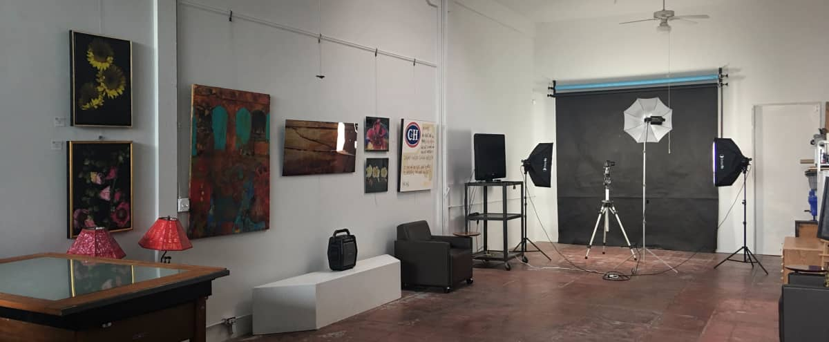 Open and airy gallery space/photography studio with skylight in an urban setting in Oakland Hero Image in , Oakland, CA