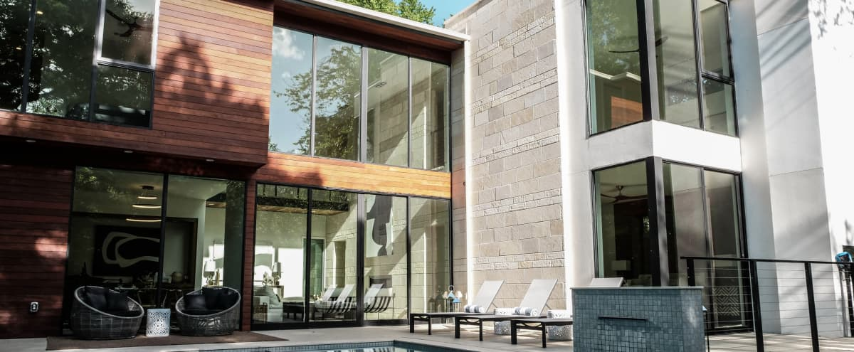 Modern Architectural Masterpiece Where Nature and Luxury Meet in Dallas Hero Image in Oak Cliff, Dallas, TX