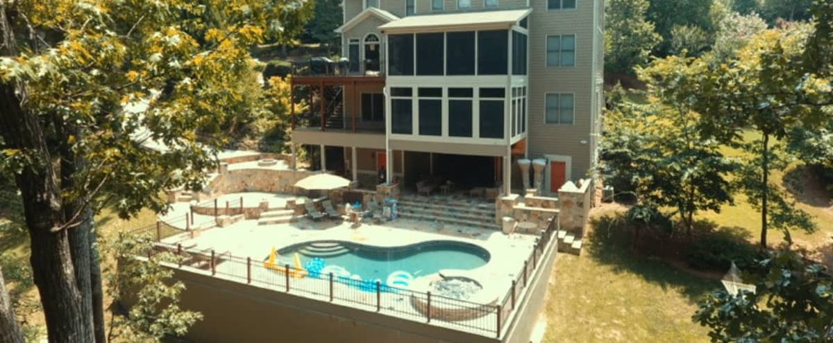 The Subbasement with Resort Style Transitional Inside to Outdoor Space in Atlanta Hero Image in undefined, Atlanta, GA