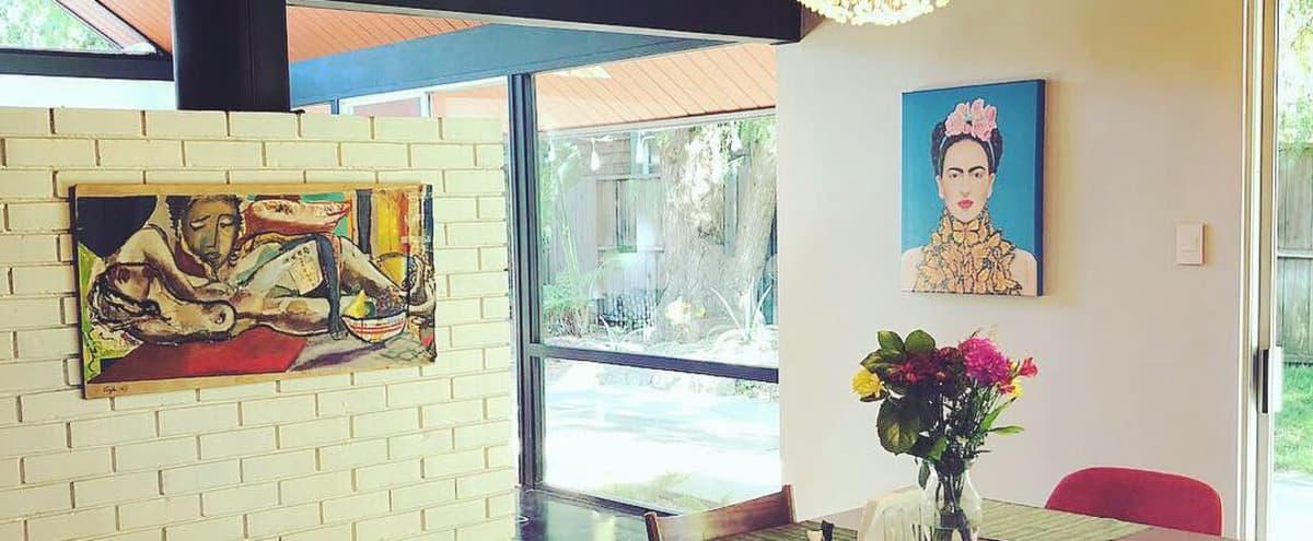 Iconic Eichler (Mid Century Modern) Oasis - Atrium, Open Floor Plan,  Windows Galore, Palm Springs Outdoor Space