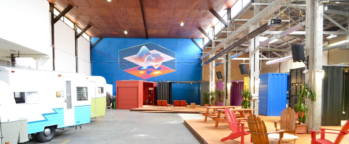 SOMA Warehouse with Colorful Shipping Containers (Opens August 1st) in San Francisco Hero Image in South of Market, San Francisco, CA