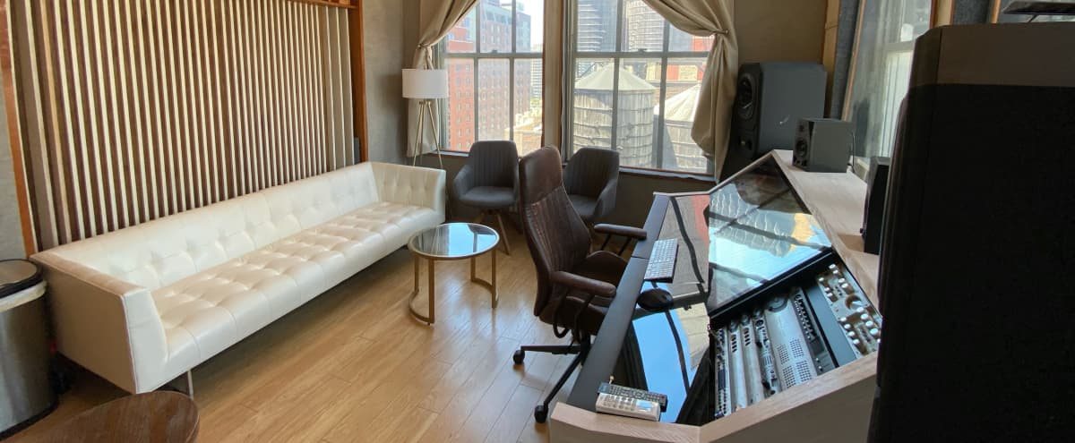 Midtown recording studio with skyline view in New York Hero Image in Midtown Manhattan, New York, NY