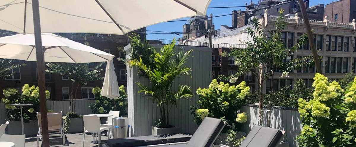 Sunny and Private Rooftop Sundeck in the heart of Union Square in New York Hero Image in Midtown Manhattan, New York, NY