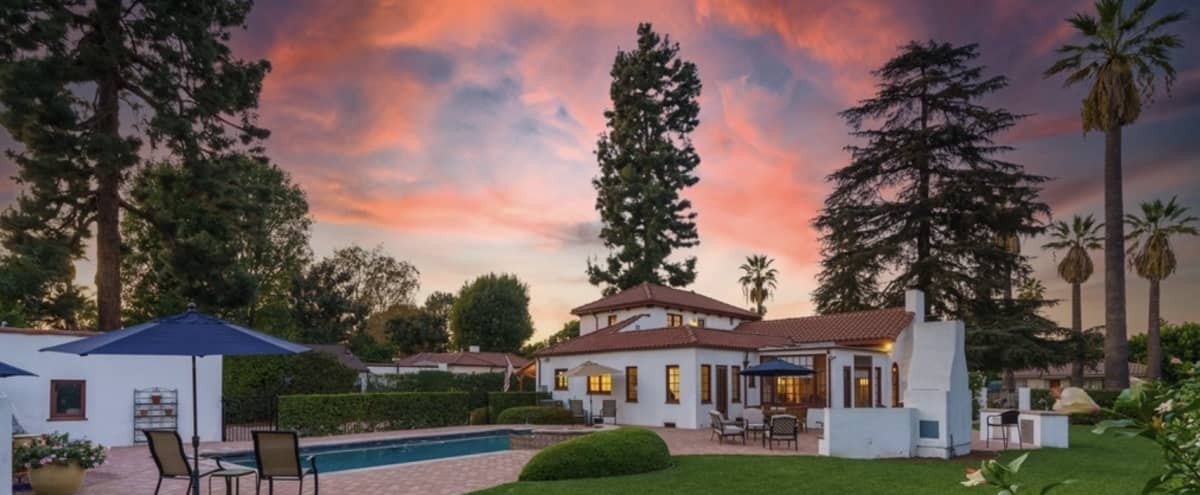 Unique Spanish-Style Villa with Multiple Backdrops and Natural Light in North Hollywood Hero Image in Toluca Lake, North Hollywood, CA