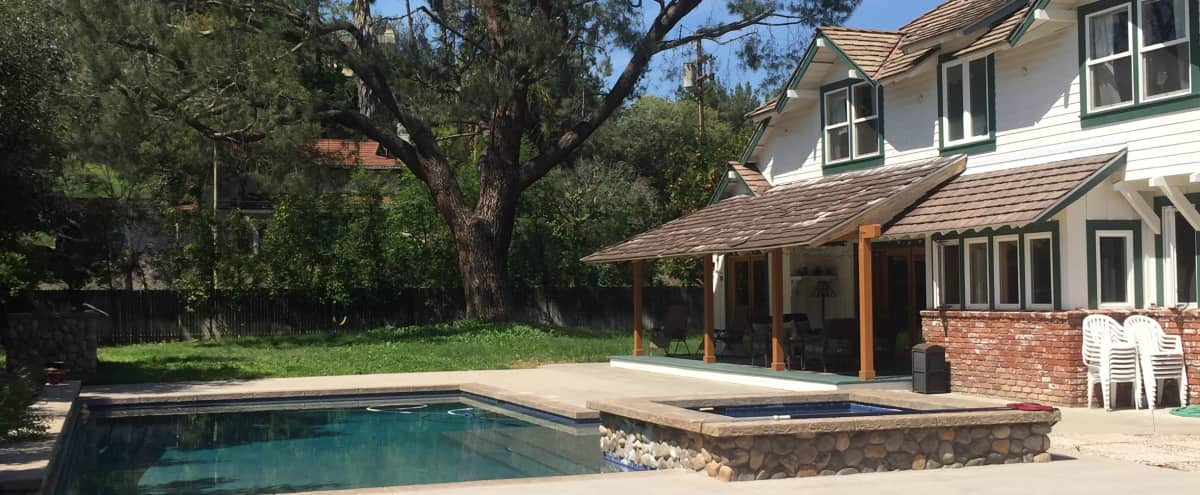 Spacious Backyard in Woodland Hills Country Cottage in Woodland Hills Hero Image in Woodland Hills, Woodland Hills, CA