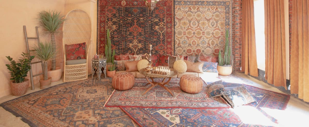 Downtown DTLA Sun Drenched Moroccan Desert Bohemian with Sand Floor in Los Angeles Hero Image in Central LA, Los Angeles, CA