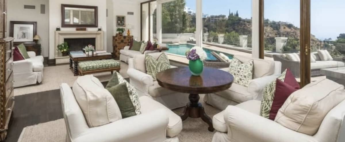 Elegant Hollywood Hills Home with Great Skyline View Pool in West Hollywood Hero Image in Central LA, West Hollywood, CA