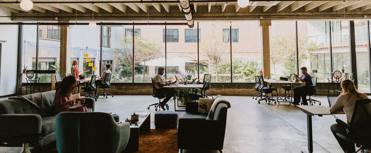 Industrial CoWorking Space Flooded With Natural Light in Dallas Hero Image in Cedars, Dallas, TX