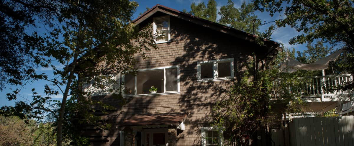Historic Lake House with dock, mountain views, large decks, open floor plan, lots of parking in Agoura Hills Hero Image in undefined, Agoura Hills, CA