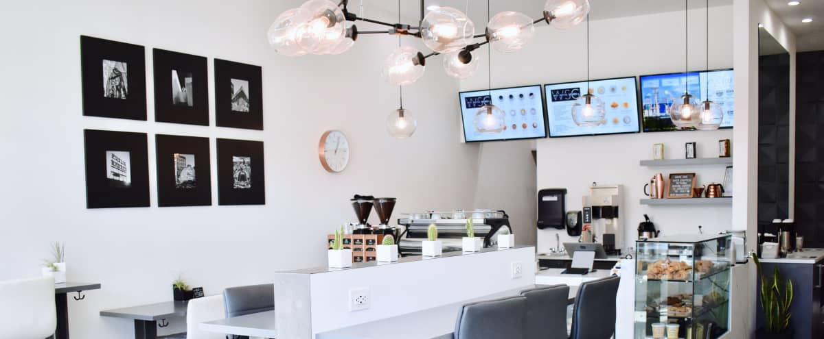Bright and Chic Coffee Bar in Seattle Hero Image in North Admiral, Seattle, WA