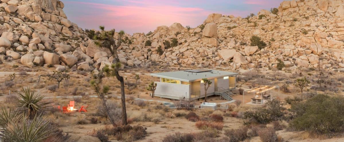 Mod-Rustic Remote Desert Home in Pioneertown Hero Image in undefined, Pioneertown, CA