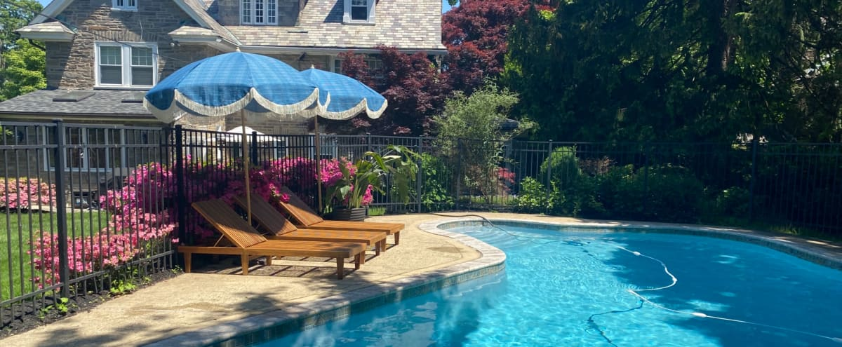 Garden oasis with pool right outside of Philadelphia in Melrose Park Hero Image in undefined, Melrose Park, PA